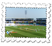 Second day's play between India and England at Visakhapatnam