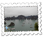 Part of Ha Long Bay taken from Ti Top Island