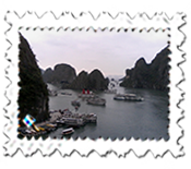 Ha Long Bay is a busy place