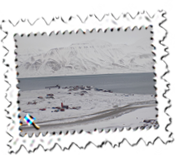 Close to the world's most northerly airport with scheduled flights. Longyearbyen on Svalbard