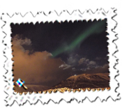 A fleeting glimpse of the Northern Lights in Tromso.