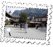 Myself in the Schloss Hohenwerfen courtyard where a lot of Where Eagles Dare was filmed