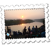 Sauraha sunset, Chitwan National Park