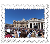 Thousands turned out for the Papal General Audience.