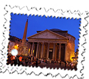 The Pantheon by night.