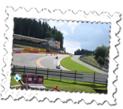 The view of Eau Rouge at the Belgian Grand Prix