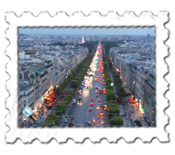 The Champs Elysees from the top of the Arc de Triomphe
