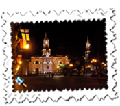 Arequipa's Plaza de Armas by night