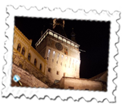 Sighisoara clock tower by night
