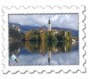 Lake Bled island - one of the most photographed places in Slovenia