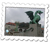 Ljubljana's Dragon Bridge presides over the Old Town