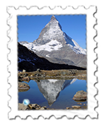 The Riffelsee, near Gornergrat, has wonderful views of the Matterhorn