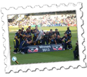 Hampshire celebrate their victory