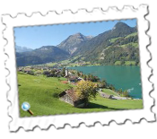 An example of the wonderful scenery from the train between Lucerne and Meiringen