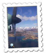 Lofoten Islands from the air